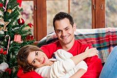 Празднующ рождество совместно Стоковые Фотографии RF