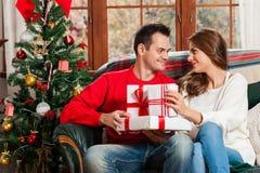Празднующ рождество совместно Стоковые Фото