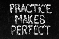 Практика делает совершенной Стоковое Изображение RF