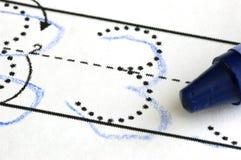 Практика писать номера Стоковая Фотография RF