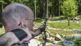 Практика лука и стрелы стоковая фотография rf