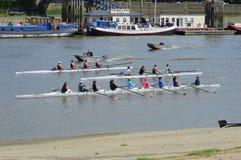 Практика rowing Стоковая Фотография
