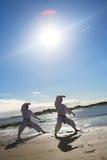 практиковать людей карате Стоковая Фотография RF