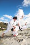 практиковать людей карате Стоковые Фотографии RF