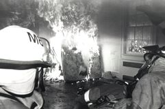 практиковать пожарных Стоковые Фотографии RF