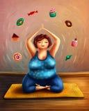 практикуя йога женщины Стоковое Изображение RF