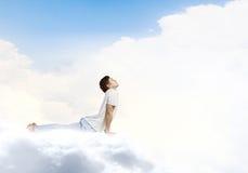 практикуя йога индюка лета Стоковое фото RF