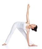 практикуя йога Стоковая Фотография RF