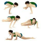 практикуя йога group2 Стоковые Изображения RF