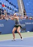 5 практик Марии Sharapova чемпиона грэнд слэм времен для США раскрывают 2015 Стоковые Фото