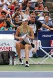 5 практик Марии Sharapova чемпиона грэнд слэм времен для США раскрывают 2015 Стоковая Фотография