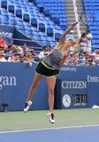 5 практик Марии Sharapova чемпиона грэнд слэм времен для США раскрывают 2015 Стоковое Фото
