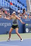 5 практик Марии Sharapova чемпиона грэнд слэм времен для США раскрывают 2015 Стоковые Фотографии RF
