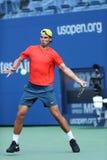 12 практик Рафаэля Nadal чемпиона грэнд слэм времен для США раскрывают 2013 на Arthur Ashe Stadium Стоковая Фотография