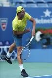 12 практик Рафаэля Nadal чемпиона грэнд слэм времен для США раскрывают 2013 на Arthur Ashe Stadium Стоковые Фото