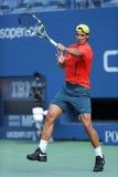 12 практик Рафаэля Nadal чемпиона грэнд слэм времен для США раскрывают 2013 на Arthur Ashe Stadium Стоковая Фотография RF