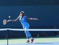 16 практик Серена Уильямс чемпиона грэнд слэм времен для США раскрывают 2013 на короле Национальн Теннисе Центре Билли Джина Стоковая Фотография