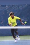 17 практик Серена Уильямс чемпиона грэнд слэм времен для США раскрывают 2014 на короле Национальн Теннисе Центре Билли Джина Стоковые Изображения RF