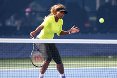 17 практик Серена Уильямс чемпиона грэнд слэм времен для США раскрывают 2014 на короле Национальн Теннисе Центре Билли Джина Стоковое фото RF