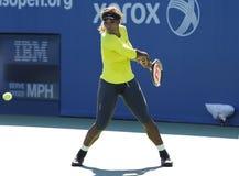 17 практик Серена Уильямс чемпиона грэнд слэм времен для США раскрывают 2014 Стоковые Изображения RF