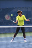 17 практик Серена Уильямс чемпиона грэнд слэм времен для США раскрывают 2014 Стоковые Фотографии RF