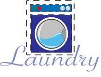 Прачечная и логотип промышленные Стоковые Изображения
