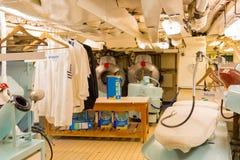 Прачечная королевской яхты Britannia Шотландии стоковая фотография