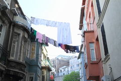 Прачечная между домами в Стамбуле Стоковые Фото