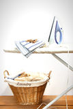 прачечный доски утюживя Стоковое Фото
