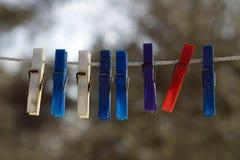 прачечный pegs пластмасса Стоковое Изображение RF