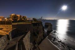 Прая делает пляж Pinhão к ноча Стоковое Изображение RF