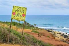 Прая делает пипу Бразилию Amor Стоковая Фотография