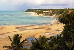 Trancoso - бразильский тропический пляж Стоковая Фотография