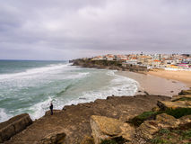 Прая das Macas в Португалии Стоковое Изображение RF