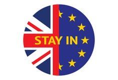 Пребывание Великобритании в Европейском союзе Стоковое Изображение RF