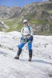 Пребывание девушки на льде стоковое фото rf