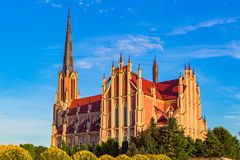 Превосходная красивая церковь святой троицы в Gervyaty, Беларуси Стоковое Изображение