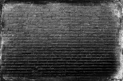 Превосходная черная кирпичная стена белизны конца Стоковое фото RF