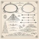 Превосходные каллиграфические рамки Стоковое Изображение