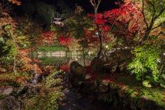 Превосходный взгляд, цвет падения на Eikando Zenrinji, Японии в осени Стоковая Фотография RF