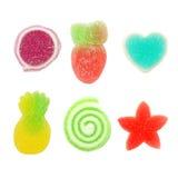 Превращать помадку конфеты при сахар изолированный на белизне Стоковое Фото