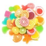 Превращать помадку конфеты при сахар изолированный на белизне Стоковое Изображение RF
