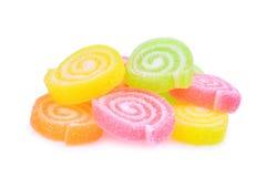 Превращать помадку, плодоовощ вкуса или десерт конфеты красочные с сахаром Стоковое Изображение RF