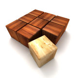 преграждает деревянное Стоковое фото RF