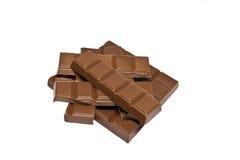 преграждает кучу шоколада Стоковая Фотография RF