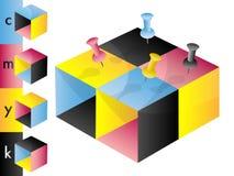 преграждает профиль цвета cmyk Иллюстрация вектора
