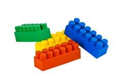 преграждает цветастое lego Стоковые Фото