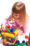 преграждает цветастый играть девушки Стоковое Изображение RF