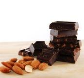 преграждает шоколад Стоковое Изображение