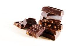 преграждает штабелированный шоколад Стоковая Фотография